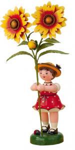 Blumenmädchen mit Korkade groß 24 cm