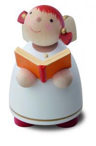 Schutzengel mit Buch, weiß