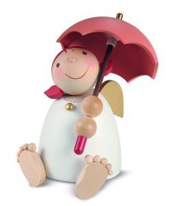 Schutzengel mit Schirm, rotorange