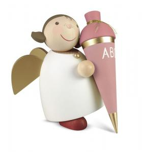 Schutzengel mit Schultüte rosa