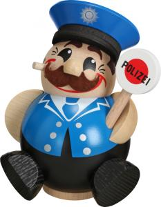 Kugelräucherfigur Lustige Berufe Polizist