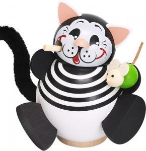 Kugelräucherfigur Tiermotive Kätzchen