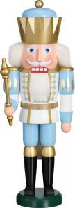 Nussknacker König Exklusiv weiß gold blau, groß