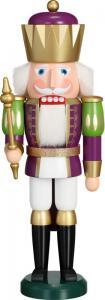 Nussknacker König Exklusiv weiß gold purpur, groß