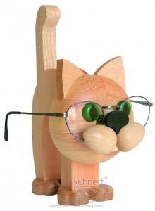 Lustiger Brillenhalter Katze natur