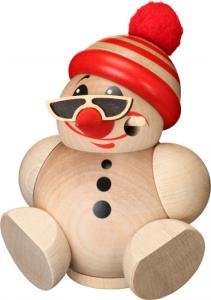 Kugelräucherfigur Cool-Man mit Mütze natur